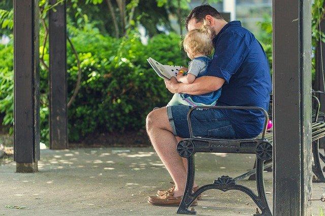 čtení s tátou